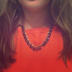 J. Crew retail sapphire necklace